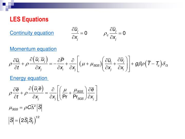 LES Equations