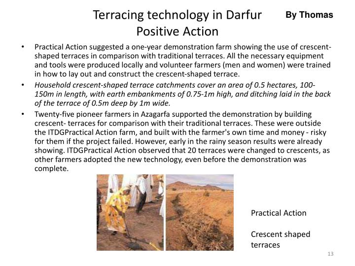 Terracing technology in Darfur