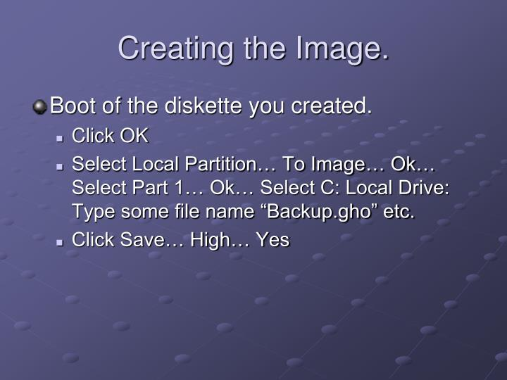 Creating the Image.