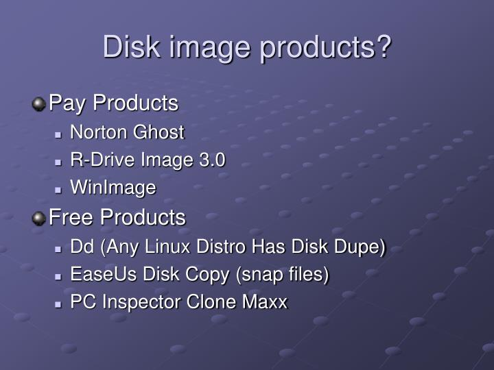 Disk image products?