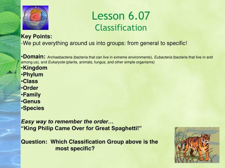 Lesson 6.07