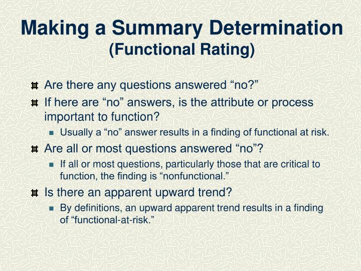 Making a Summary Determination