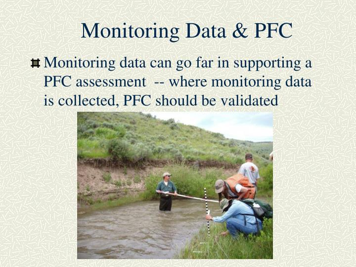 Monitoring Data & PFC