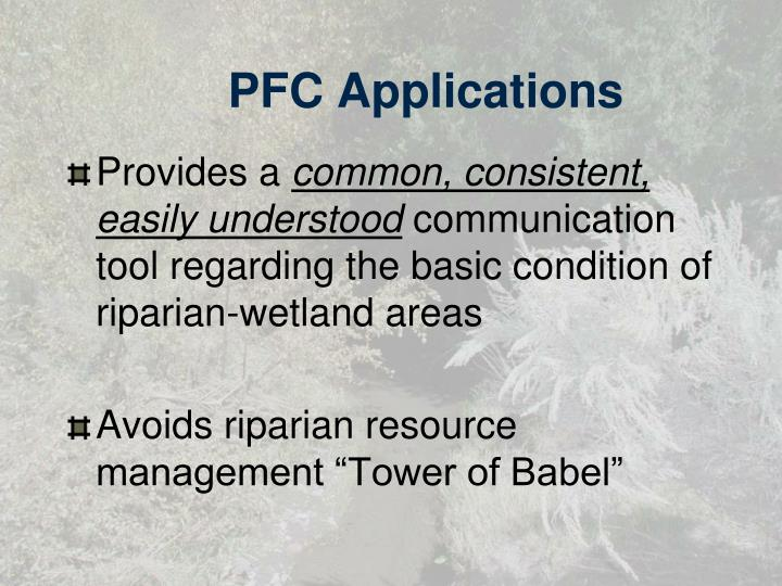 PFC Applications