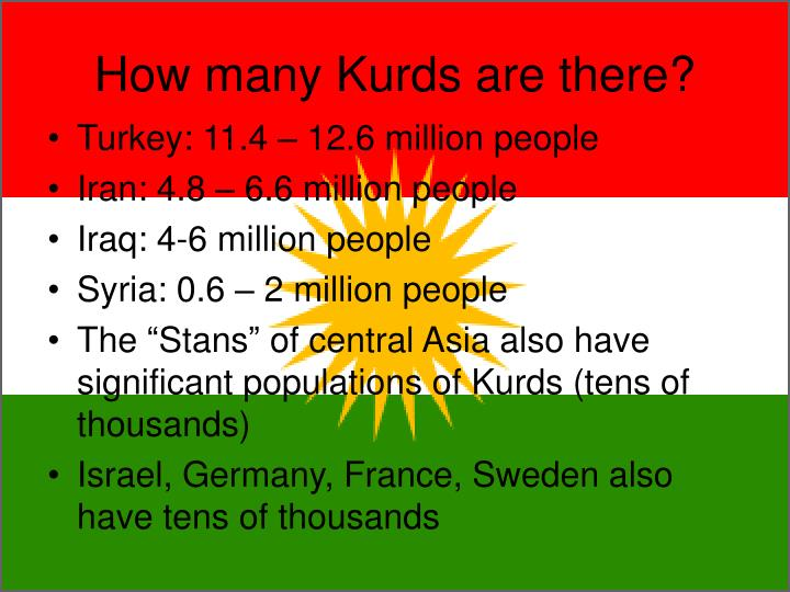 How many Kurds are there?