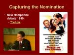 capturing the nomination