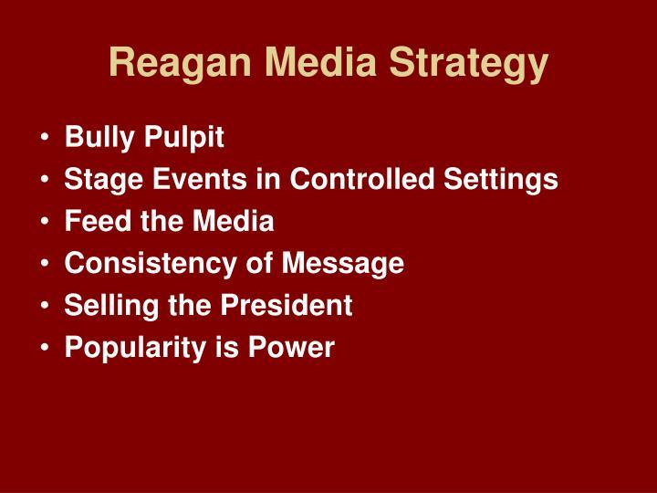 Reagan Media Strategy
