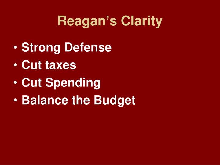 Reagan's Clarity