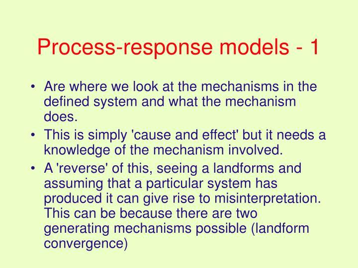 Process-response models - 1