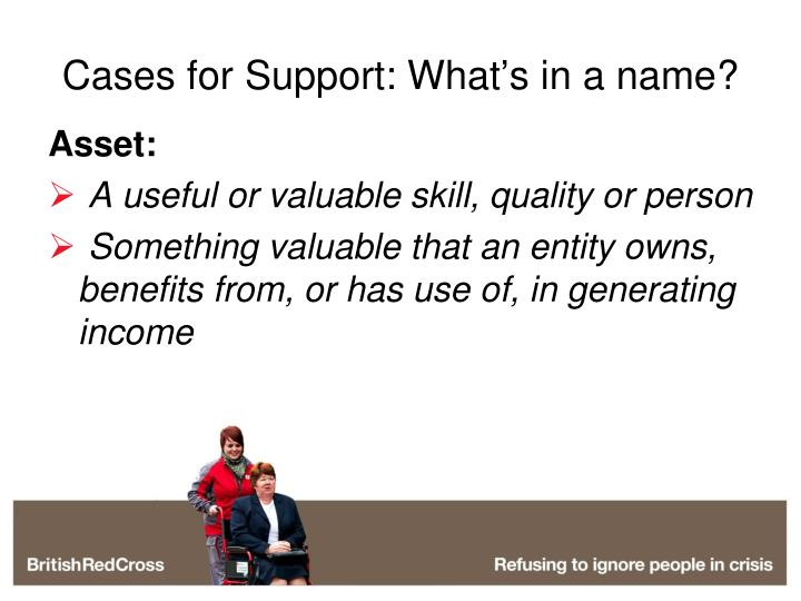 Cases for Support: What's in a name?