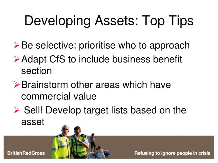 Developing Assets: Top Tips