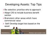 developing assets top tips
