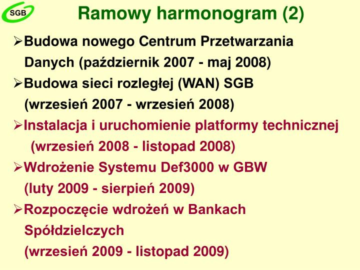 Ramowy harmonogram (2)