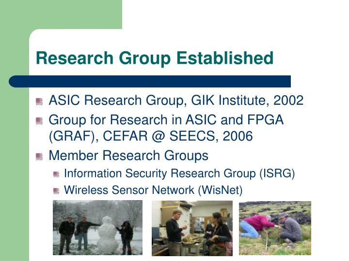 Research Group Established