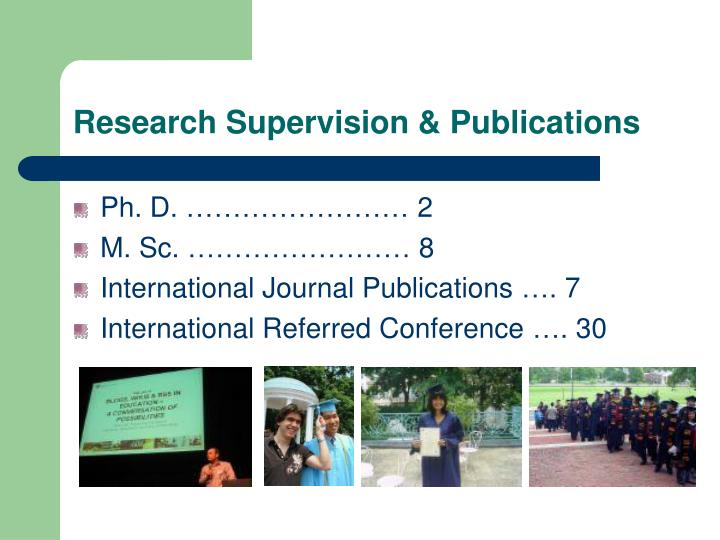 Research Supervision & Publications