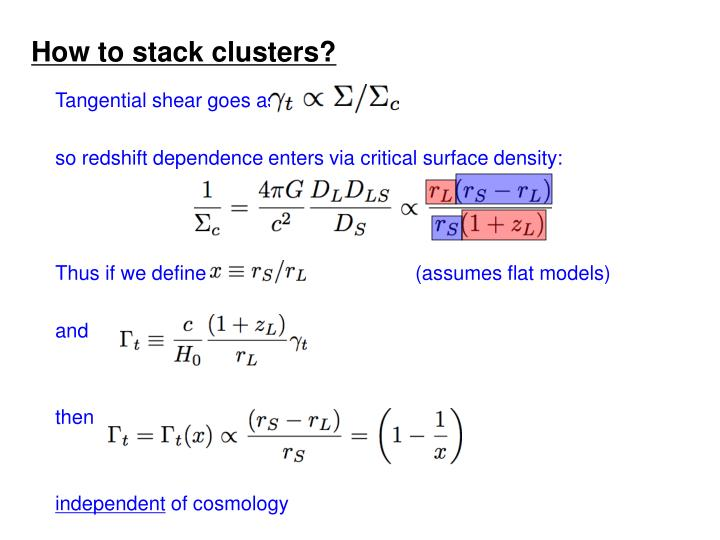 How to stack clusters?