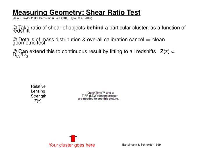 Measuring Geometry: Shear Ratio Test