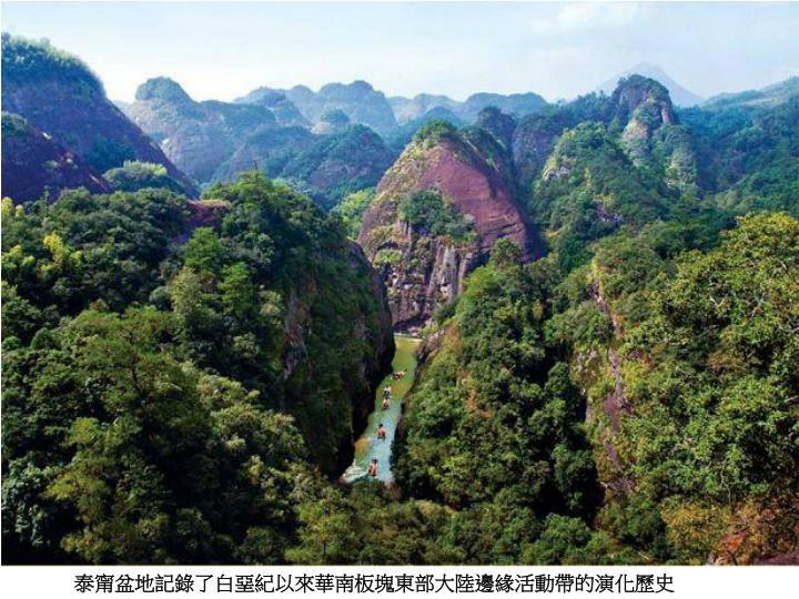 泰甯盆地記錄了白堊紀以來華南板塊東部大陸邊緣活動帶的演化歷史