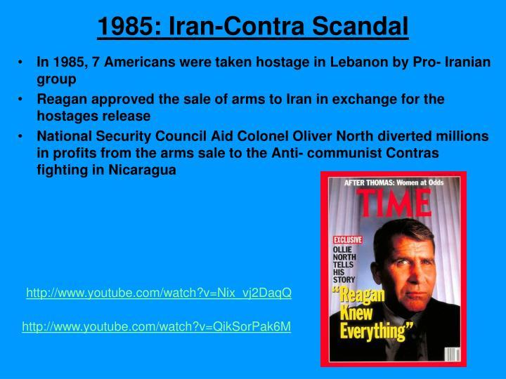1985: Iran-Contra Scandal