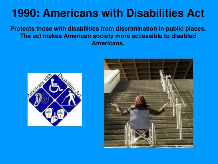 1990: Americans with Disabilities Act