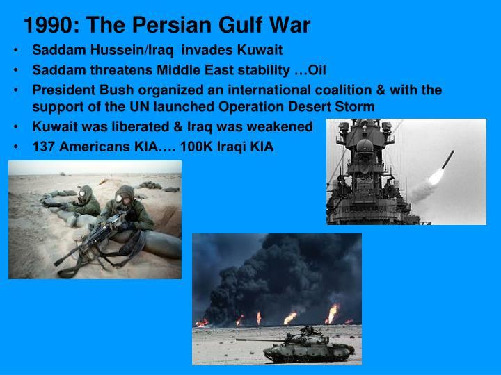 1990: The Persian Gulf War