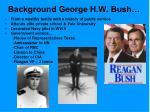 background george h w bush