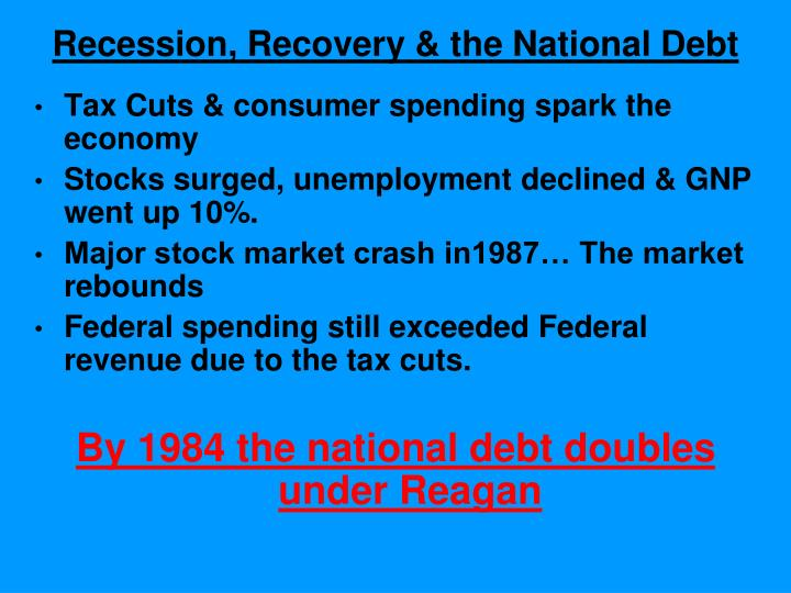 Recession, Recovery & the National Debt
