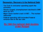 recession recovery the national debt