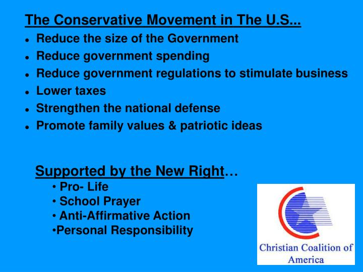 The Conservative Movement in The U.S...