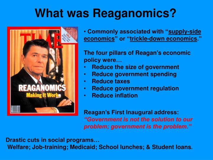 What was Reaganomics?
