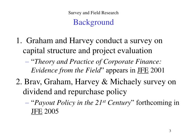 Survey and field research background1
