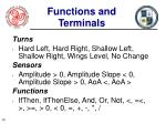 functions and terminals