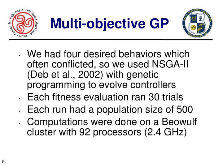 Multi-objective GP