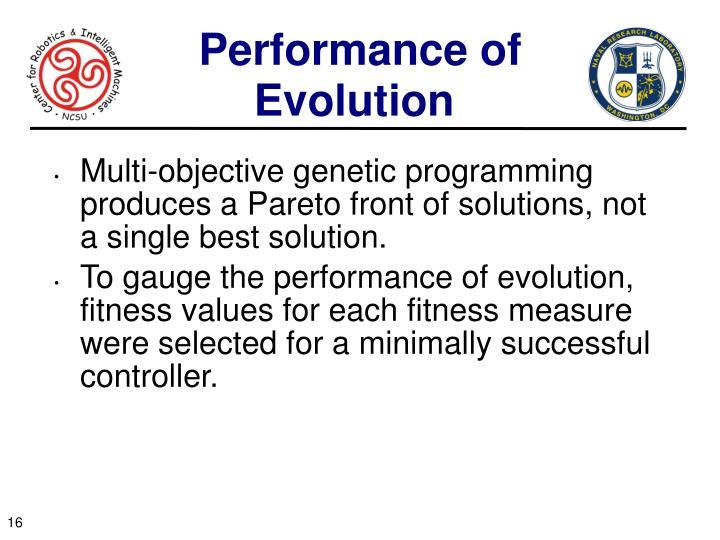 Performance of Evolution