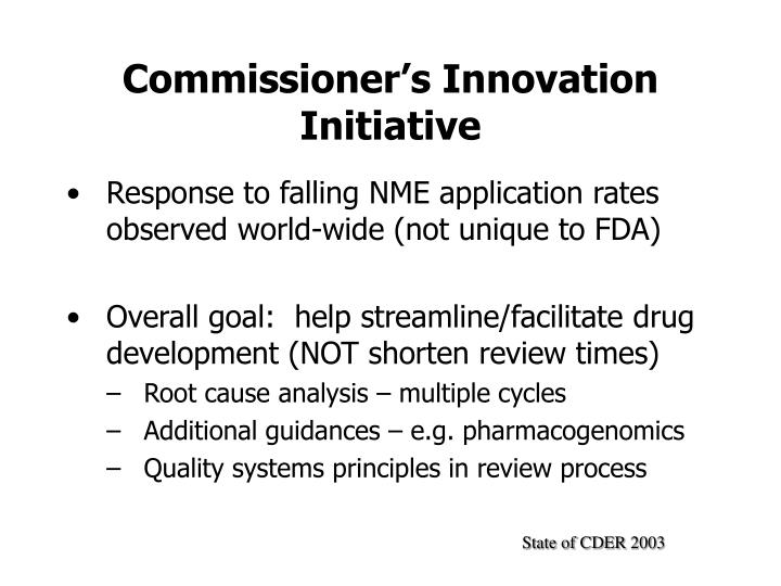 Commissioner's Innovation Initiative