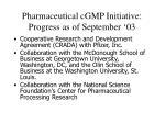 pharmaceutical cgmp initiative progress as of september 031