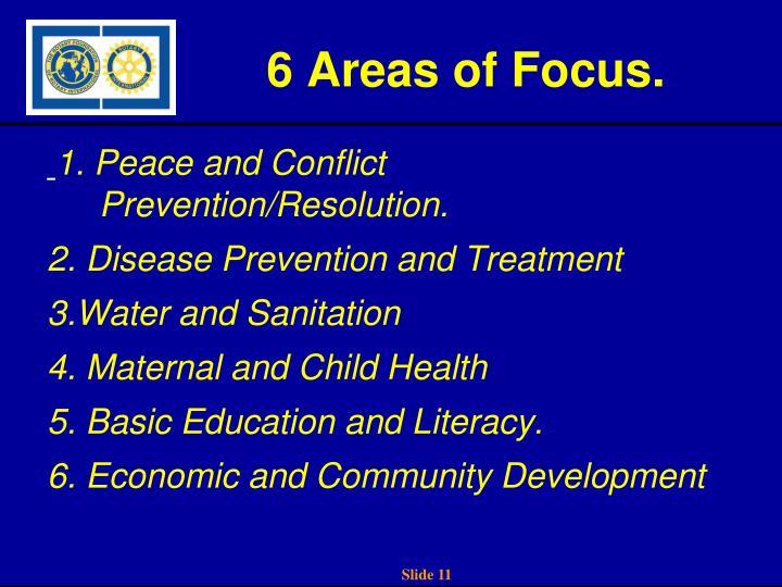 6 Areas of Focus.