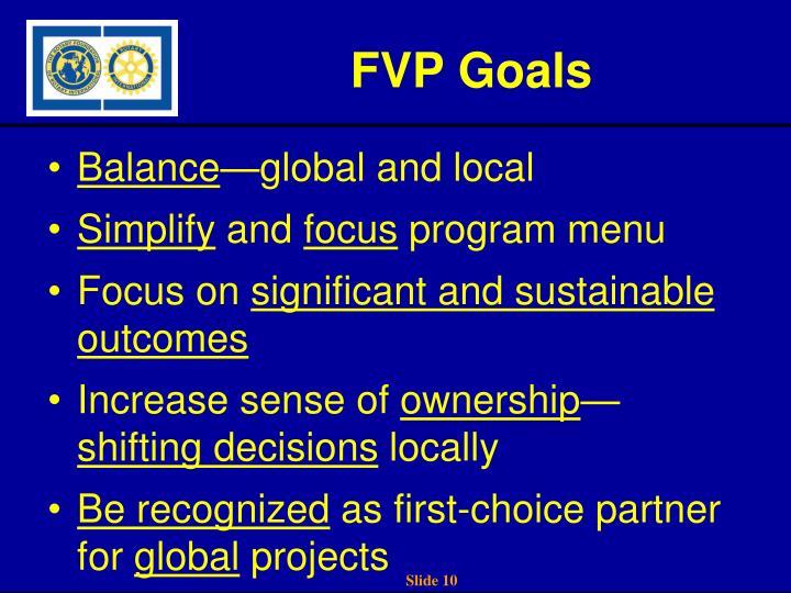 FVP Goals