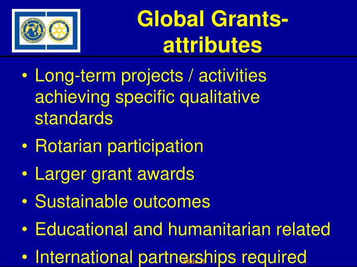 Global Grants-attributes
