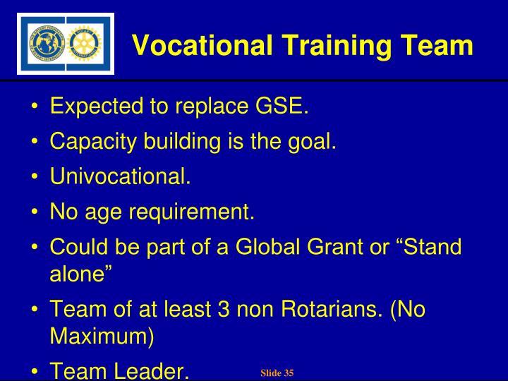Vocational Training Team