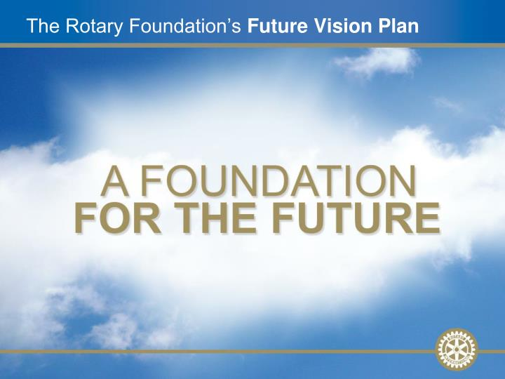 the rotary foundation s future vision plan