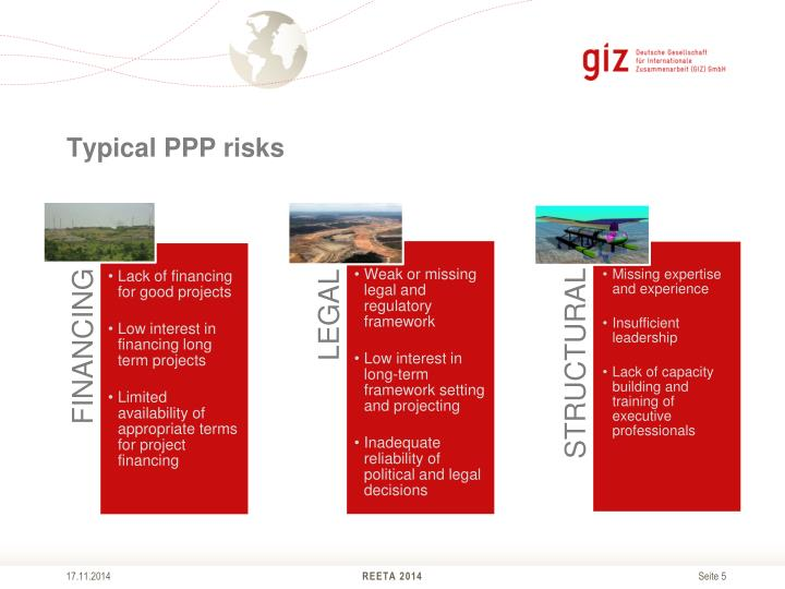 Typical PPP risks