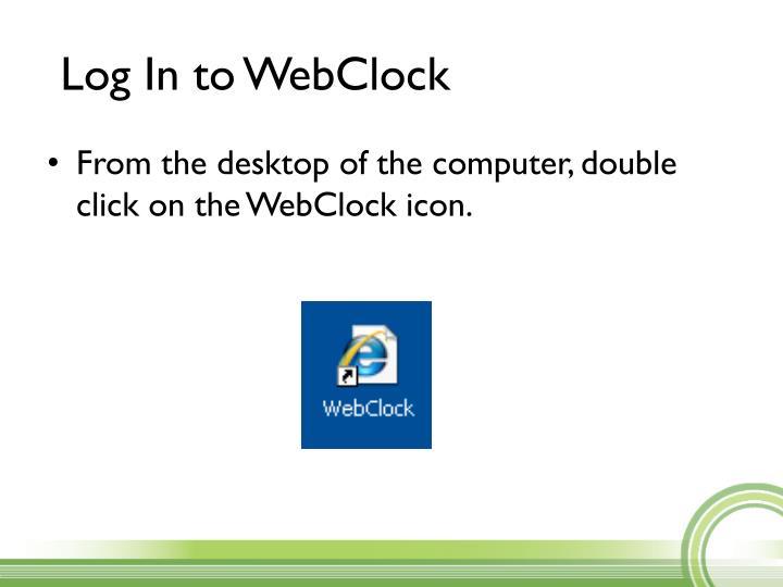 Log In to WebClock