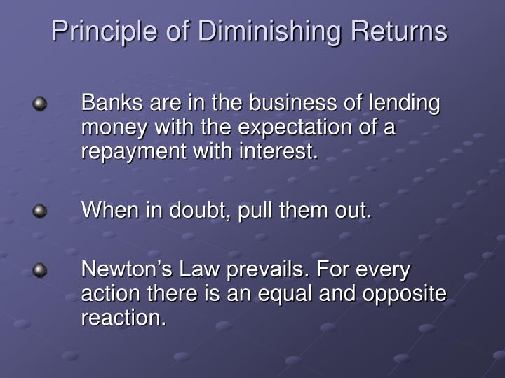 Principle of Diminishing Returns