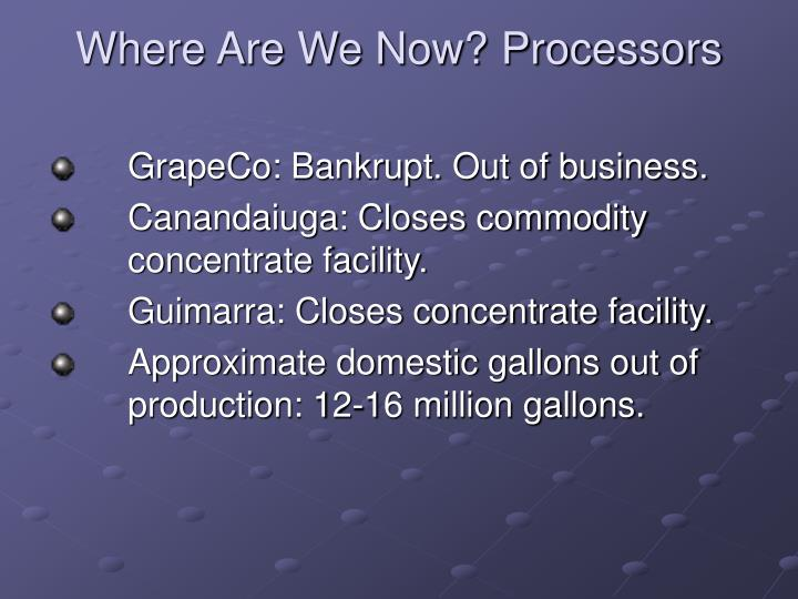Where Are We Now? Processors