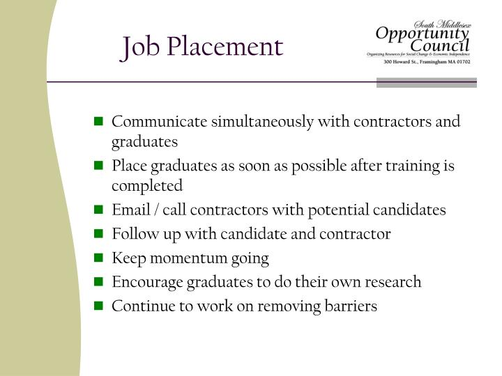 Job Placement