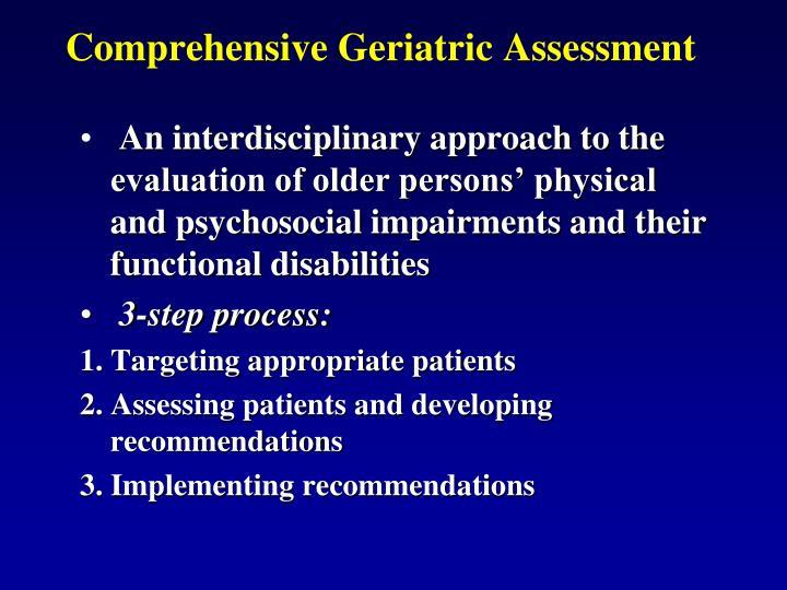 Comprehensive Geriatric Assessment