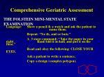 comprehensive geriatric assessment11
