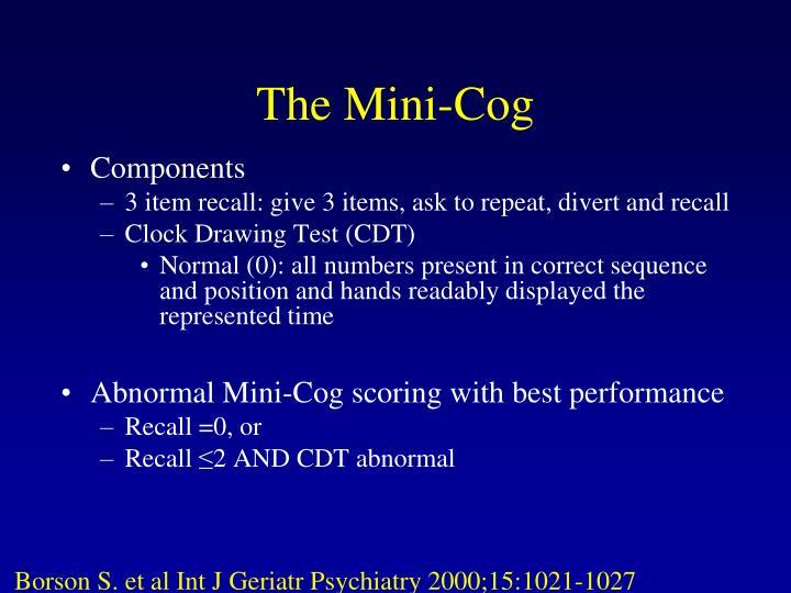 The Mini-Cog