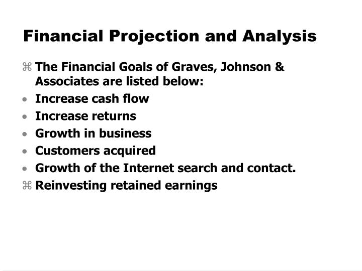 Financial Projection and Analysis